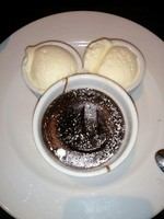 Chocolate Melting Cake a la Mickey!