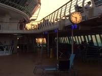 The ship's clock was stuck at 5.50 throughout the cruise. The ship'