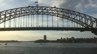 Sailing out of Sydney - the wonderful Harbour Bridge