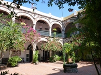 Courtyard of La Popa Monastery in Cartagena, Colombia