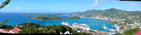 St. Thomas (US Virgin Islands) panorama from the hilltop.