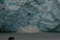 We were right next to these huge glaciers - amazing sight AND sound.