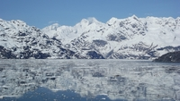 Passing Glacier Bay National Parks Ice fields...
