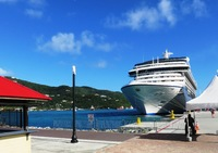Oceania Riviera in port - Roadtown, Tortola.  A beautiful day in the Caribb
