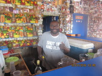 Daiquiri Shack near Cable Beach.  What a CHARACTER....and the healthiest be