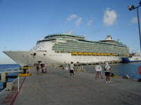 Ship at Cozumel Mexico