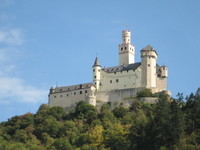 Marksburg Castle as seen from the river.