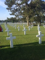 The American cemetery near Omaha Beach. Our experience here was very emotional as we remember the sacrifice of so many Allied servicemen  Who gave their lives to preserve our freedom. I would have liked to spend more time here. That is not how excursions work. Maybe someday I will return.
