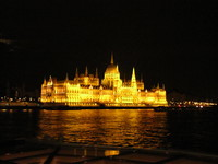 Budapest - parliament at night.