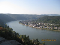View on the Rhine from Marksburg Castle