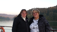 THIS IS MY DAUGHTER AND ME ON THE TOP OF THE BOAT  WERE  THE DANUBE, INN AN