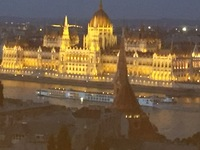 The Parliament building in Budapest, taken from the Buda side of the Danube