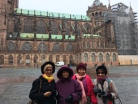 Outside Cologne Cathedral  ( Germany) with friends.