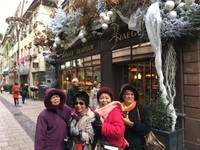 Strasbourg, France, walking and admiring the beautiful Christmas decoration