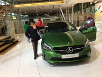 Mercedes- Benz Factory. We were told by our tour guide that the cars assemb