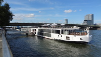 Viking Vili docked in Cologne, Germany.