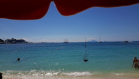 View of the ship from the beach at St Martin