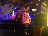Roy with Arny G.- fabulous piano player and singer- Crooners Bar