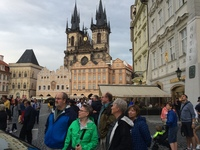Tour of towne square in Prague - a wonderful place to visit.