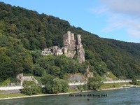 Castle after castle while traveling on the Rhine