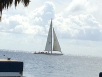 A sailboat we saw while on an excursion.