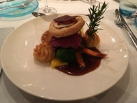 Beef Wellington, farewell dinner onboard ship.