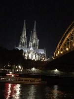 Leaving Cologne, Germany on our second night.