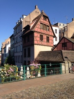 Beautiful timbered house in Strasbourg.