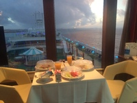 Private dinner in our stateroom