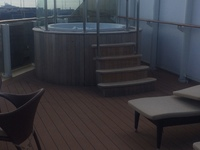 The hot tub on our balcony