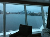 View from our cabin coming into Sydney Harbour