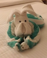 "Our Friday Night Towel Sculpture - ""Dog"""