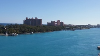 View of Atlantis on the way out of Nassau