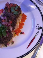 Animator's Palate Vegan Entree- Chipotle Black Bean Cakes