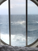 A large ocean view window on deck four.