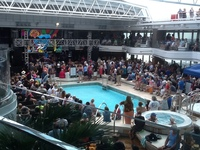 "The Lido midship taken during the ""returnee party"" of the LRBC from"