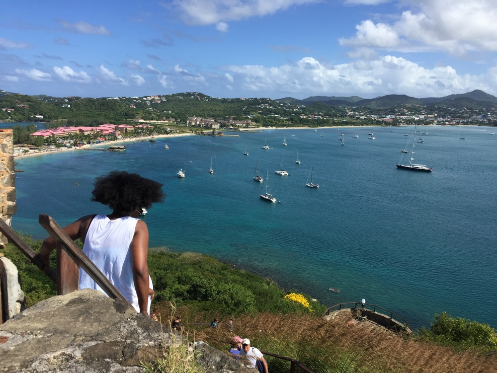 Looking out to Rodney Bay