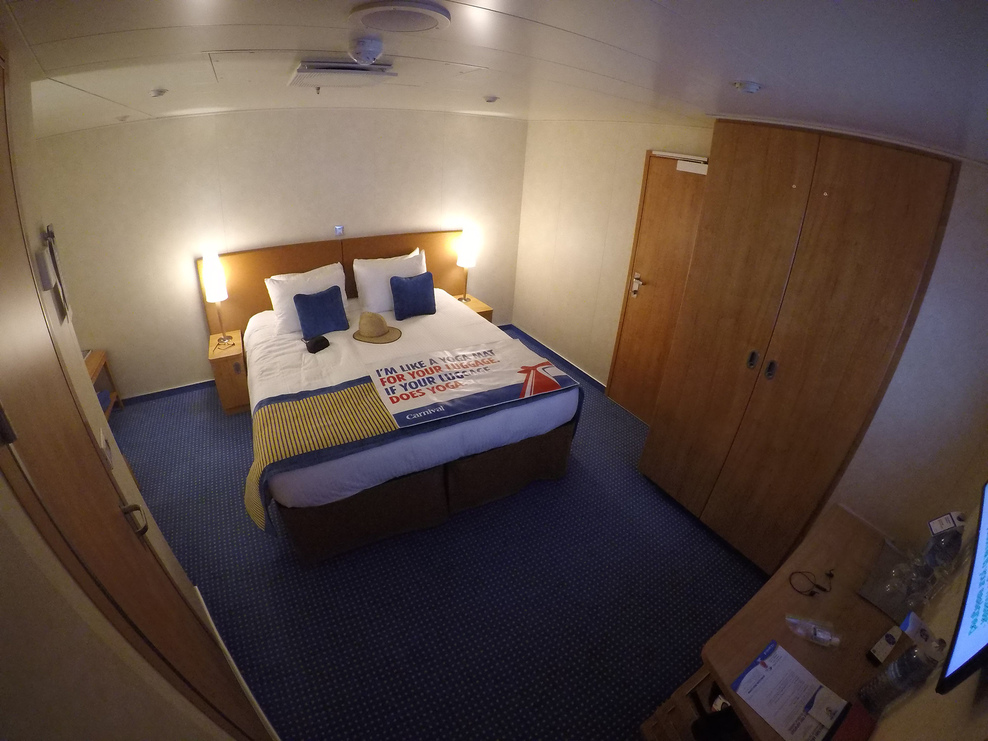 A view of my square inside stateroom