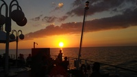 Our last sunset, heading for Montego Bay, our last port.