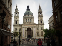 St. Stephen's Cathedral in Budapest. We took the elevator to the top an