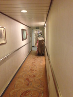Hallway of this old ship. Musty.
