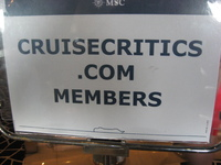 Cruise Critic Party Sign.