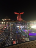 The final night, relaxing on deck with a drink in my hand enjoying the view
