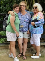 Angie, Janis, Vicki at La Soufriere Volcano  (St Lucia)