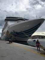 Our ship docked in Montenegro...