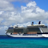 Celebrity Solstice anchored off Lifou