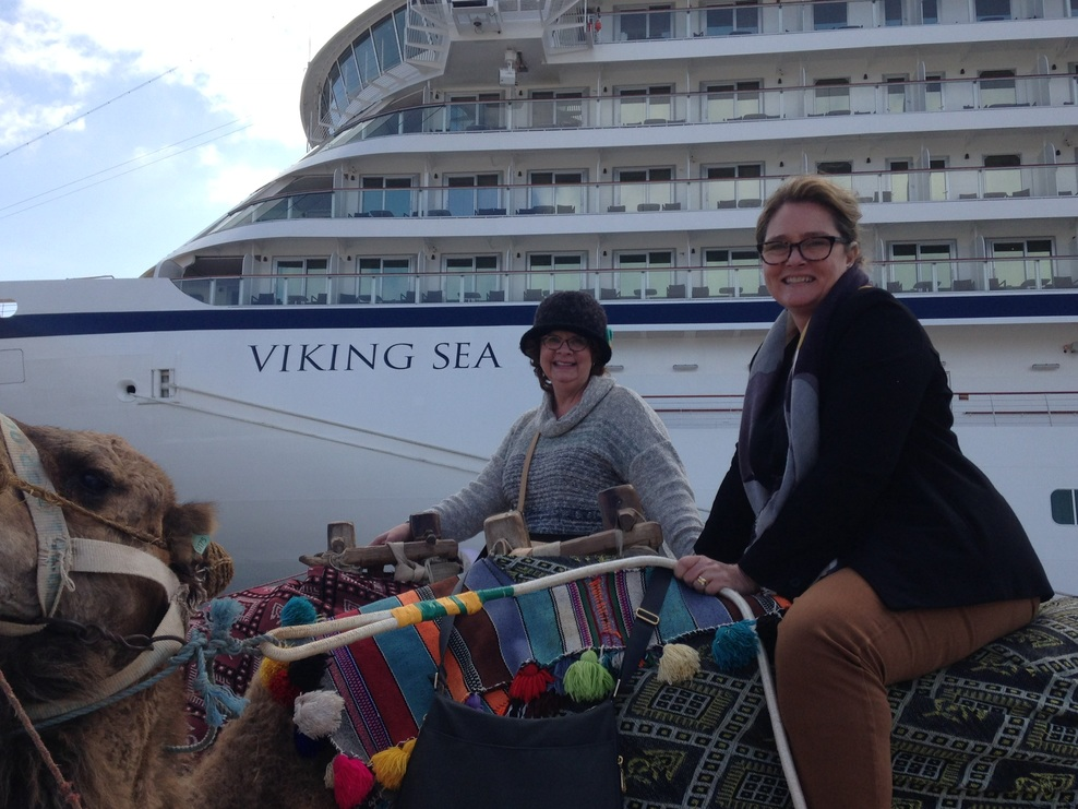 A little camel ride in front of the ship!