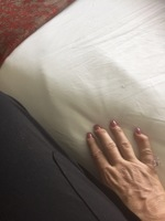 Hard to see in photo, but bed was three inches lower than the seat of my wh