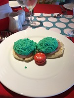 Green eggs and ham! The Seuss at Sea breakfast was well worth the $5 per pe