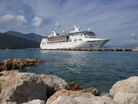Empress Of The Seas at Labadee, Haiti. March 15th, 2017.